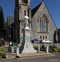 Fort William Memorial (Jan 2011) - Taken in January 2011 after vandals removed the rifle from the statue on top of the memorial  by Martin Briscoe  © J M Briscoe, 2011