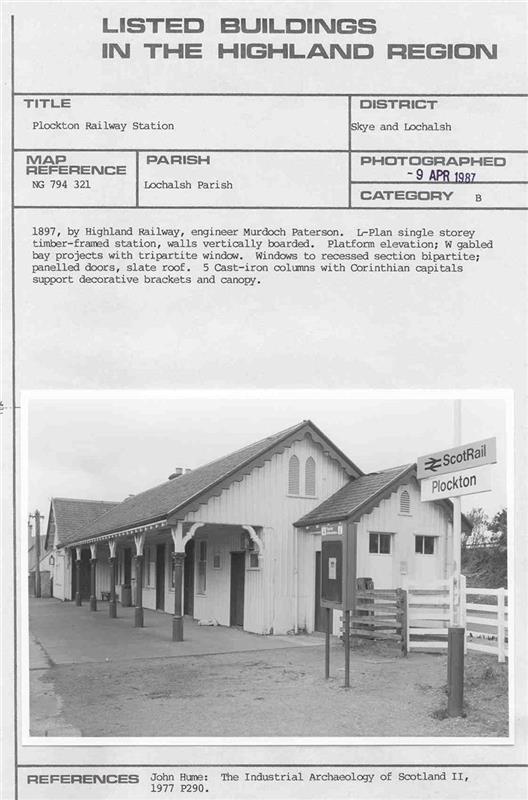 MHG16902 - Plockton Railway Station - Highland Historic