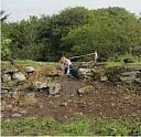 Debris slope in broch interior adjacent to T4  by AOC Archaeology  © AOC Archaeology