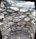 Gallery, south end wall panorama  by AOC Archaeology  © AOC Archaeology