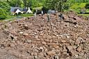 Overlooking W and NW side of site  by Mary Peteranna  © Ross and Cromarty Archaeological Services