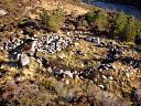 Hut circle Torr Na H-Ulaidhe (AH004): from above  by Jim Buchanan  © Jim Buchanan
