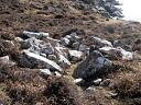 Hut circle Mellon Charles to Slaggan 2 (JAN010): HC and structure from N  by Anne MacInnes  © Anne MacInnes